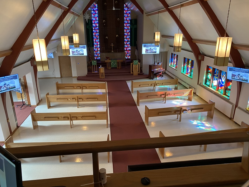 Chapel From Above - New Equipment