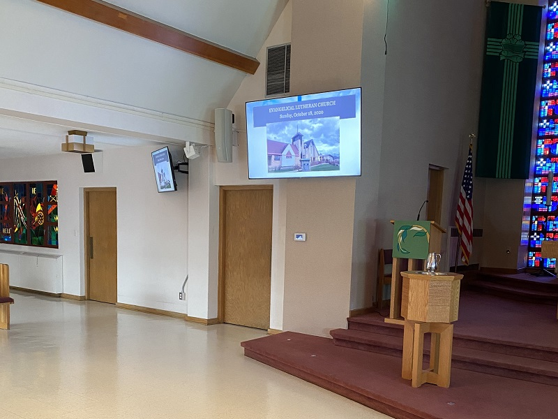 Chapel From Front - New Equipment