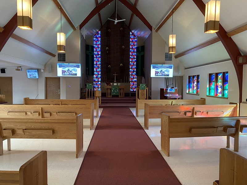 Chapel From Ground Level - New Equipment
